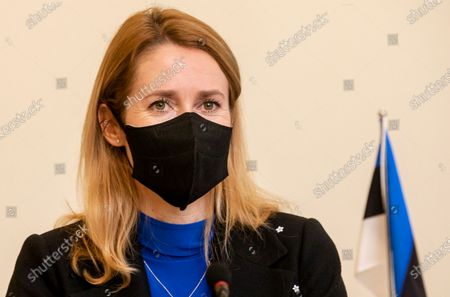 Dated, newly appointed Estonian Prime Minister Kaja Kallas leads a cabinet meeting in Tallinn, Estonia. 43-year old Kallas has tested positive for COVID-19 and said late Monday March 15, 2021, she was feeling well apart from a small fever and hasn't developed any other symptoms, she will self-quarantine until recovered