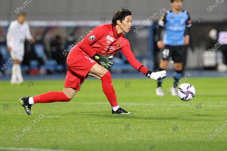 Stock Image of Kim Seung Gyu (Reysol) - Football / Soccer :  2021 J1 League match between Kawasaki Frontale 1-0 Kashiwa Reysol at Kawasaki Todoroki Stadium, Kanagawa, Japan.