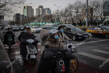 Editorial photo of Daily life in Beijing, China - 16 Mar 2020