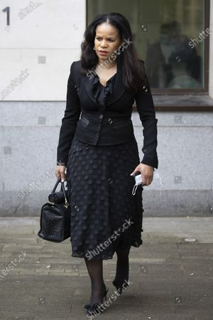 Stock Photo of MP Claudia Webbe(Centre) walks outside Westminster Magistrates Court .She is charged with one count of harassment and the trial is expected to last for one day.