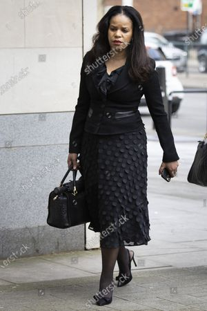 Stock Image of MP Claudia Webbe arrives at Westminster Magistrates Court .She is charged with one count of harassment and the trial is expected to last for one day.
