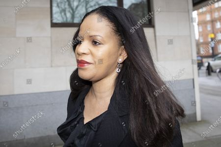 MP Claudia Webbe arrives at Westminster Magistrates Court .She is charged with one count of harassment and the trial is expected to last for one day.