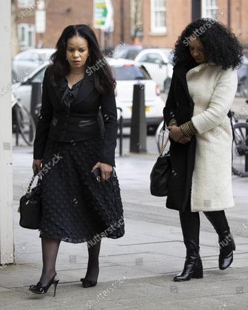 MP Claudia Webbe(L) arrives at Westminster Magistrates Court .She is charged with one count of harassment and the trial is expected to last for one day.