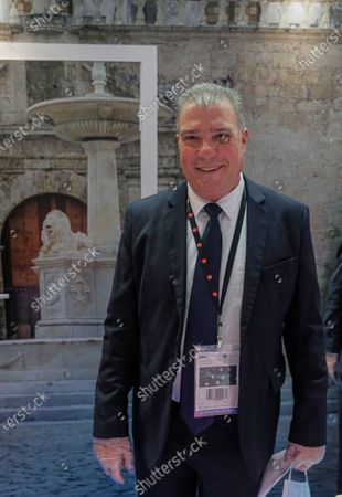 Cuban Tourism Minister Juan Carlos Garcia Granda attends an opening ceremony of the 27th International Travel Show MITT at Crocus Expo Center in Moscow, Russia, 16 March 2021. MITT is the largest B2B travel and tourism trade show in Russia, attracting representatives of the Russian and the international tourism industry.