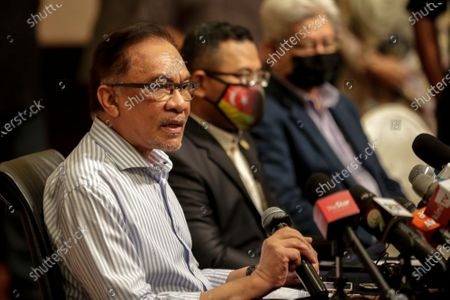 Editorial picture of Malaysian opposition leader Anwar Ibrahim at a press conference in Malaysia, Kuala Lumpur - 16 Mar 2021