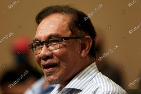 Editorial image of Malaysian opposition leader Anwar Ibrahim at a press conference in Malaysia, Kuala Lumpur - 16 Mar 2021