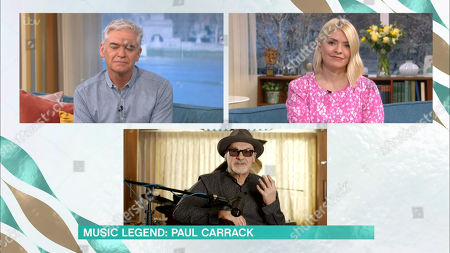 Stock Image of Holly Willoughby, Phillip Schofield, Paul Carrack