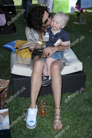 Minnie Driver and her son Henry Story Driver.