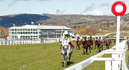 Stock Image of VINTAGE CLOUDS (Ryan Mania) wins The Ultima Handicap Chase Cheltenham
