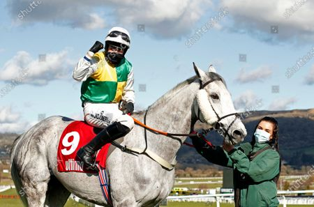 VINTAGE CLOUDS (Ryan Mania) after The Ultima Handicap Chase Cheltenham
