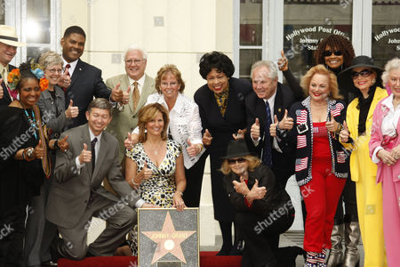 Stock Picture of Leron Gubler, Betsy Burleson, Judy Price, Congresswomen Diane Watson, Tom Labonge, Carol Connors, Ann Rutherford, Ann Jeffreys and friends