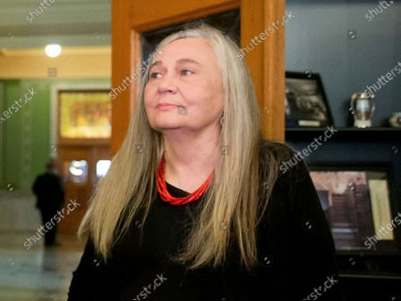 """Stock Image of Pulitzer Prize-winning writer Marilynne Robinson visits the State Library of Iowa in the Ola Babcock Miller Building in Des Moines, Iowa. Oprah Winfrey announced Tuesday that she has selected Robinson's acclaimed quartet of """"Gilead"""" narratives for her next book club selection. Robinson won the Pulitzer Prize in 2005 for """"Gilead,"""" the first of her books set in the fictional Iowa town of Gilead"""
