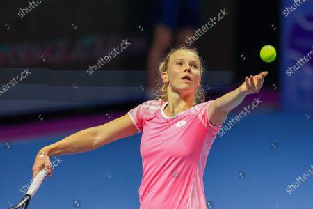 Editorial photo of WTA500, St.Petersburg Ladies Trophy, Katerina Siniakova Vs Kirsten Flipkens in St.Petersburg, Russia - 16 Mar 2021