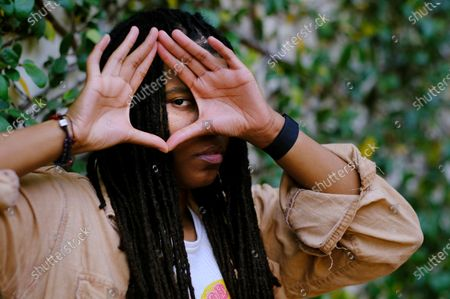 """Stock Photo of Grammy-winning songwriter Starrah poses for a portrait in Beverly Hills, Calif., on . The hitmaker for the likes of Drake, Rihanna, Maroon 5, Camila Cabello, Nicki Minaj, Halsey and Katy Perry is releasing her debut full-length album """"Longest Interlude"""" this month"""