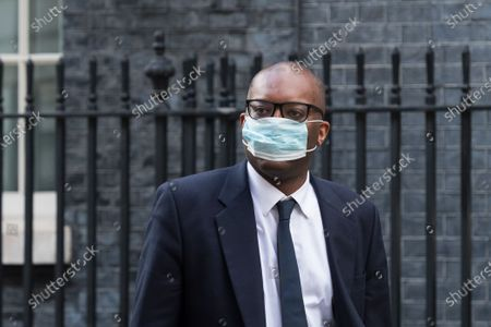 Secretary of State for Business, Energy and Industrial Strategy Kwasi Kwarteng leaves Downing Street.