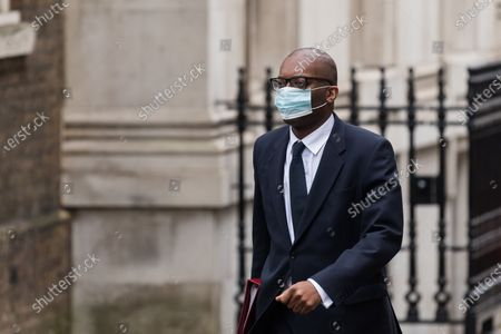 Secretary of State for Business, Energy and Industrial Strategy Kwasi Kwarteng arrives in Downing Street.