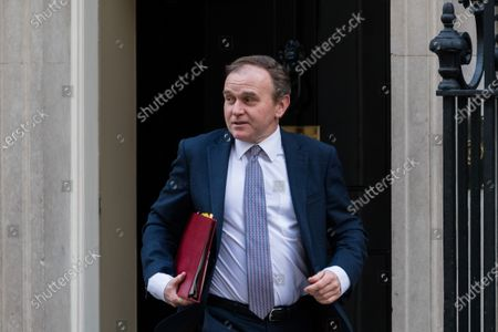 Stock Picture of Secretary of State for Environment, Food and Rural Affairs George Eustice leaves Downing Street.