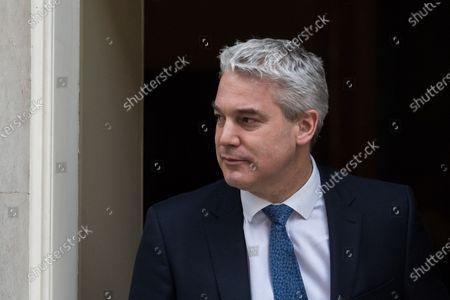 Chief Secretary to the Treasury Stephen Barclay leaves Downing Street.