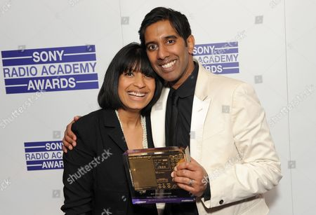 Stock Picture of DJ Nihal (R) on BBC Asian Network - BBC News for BBC Asian Network wins Best Speech programme