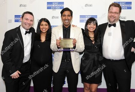 Stock Picture of DJ Nihal (C) on BBC Asian Network - BBC News for BBC Asian Network wins Best Speech programme, with guests