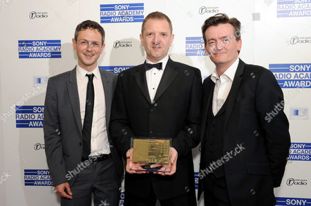 Absolute Blur wins Best Live Event Coverage - Feargal Sharkey (R) with the team