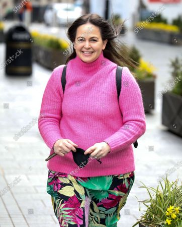 Giovanna Fletcher is seen at the Global Radio Studios.