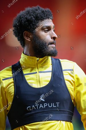 Bristol Rovers defender Mark Little (2) warms up prior to the EFL Sky Bet League 1 match between Charlton Athletic and Bristol Rovers at The Valley, London