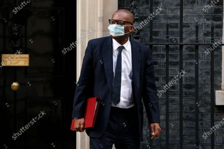 Secretary of State for Business, Energy and Industrial Strategy Kwasi Kwarteng, Conservative Party MP for Spelthorne, leaves 10 Downing Street in London, England, on March 16, 2021.