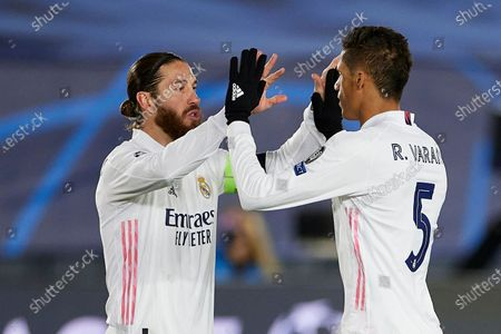 Sergio Ramos of Real Madrid and Raphael Varane of Real Madrid