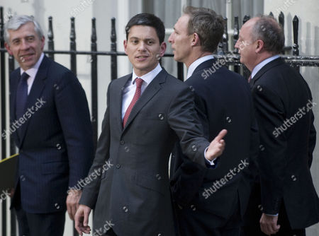 Justice Secretary/Lord Chancellor Jack Straw  and David Miliband, British Secretary of State for Foreign and Commonwealth Affairs with Scottish Secretary Jim Murphy  and Shaun Woodward, Secretary of State for Northern Ireland