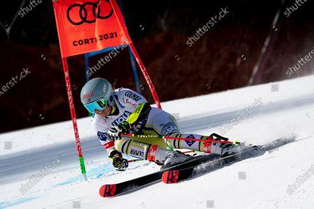 Editorial image of Telepass FIS Alpine World Ski Championships, Women's Giant Slalom, Olympia delle Tofane Course, Cortina d'Ampezzo, Italy - 18 Feb 2021