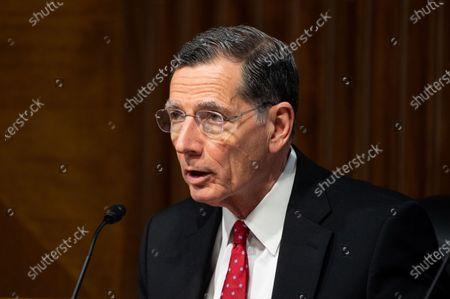 U.S. Senator John Barrasso (R-WY) speaking at a hearing of the Senate Energy and Natural Resources Committee.