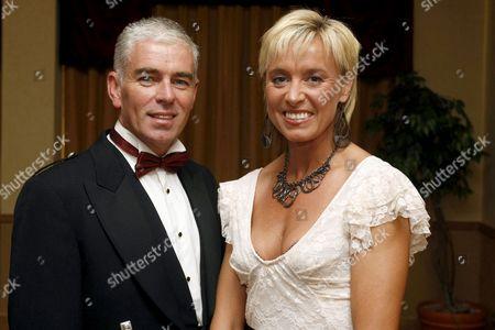Athlete Liz McColgan and partner Peter