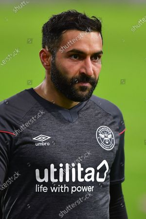 Saman Ghoddos of Brentford during the Sky Bet Championship match between Derby County and Brentford at the Pride Park, Derby on Tuesday 16th March 2021.