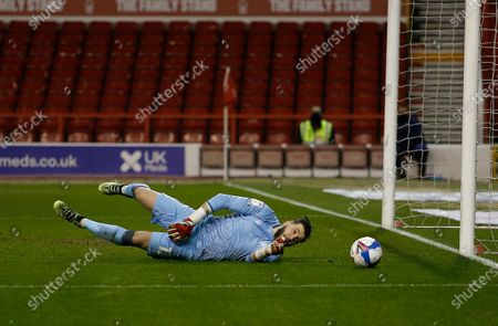 Nottingham Forest's Jordan Smith saves