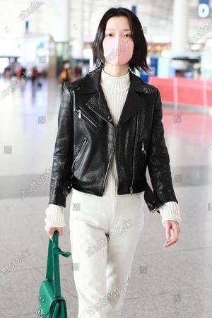 Editorial picture of Du Juan at Beijing International Airport, China - 17 Mar 2021