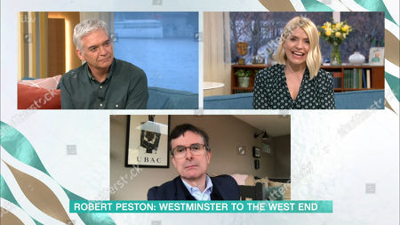 Phillip Schofield, Holly Willoughby and Robert Peston