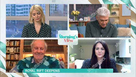 Stock Photo of Holly Willoughby, Phillip Schofield, Gyles Brandreth and Beverley Turner