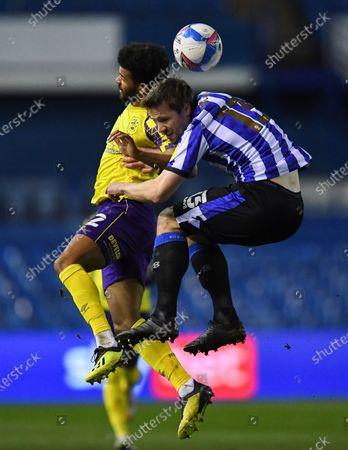 Fraizer Campbell of Huddersfield Town and Julian Börner of Sheffield Wednesday
