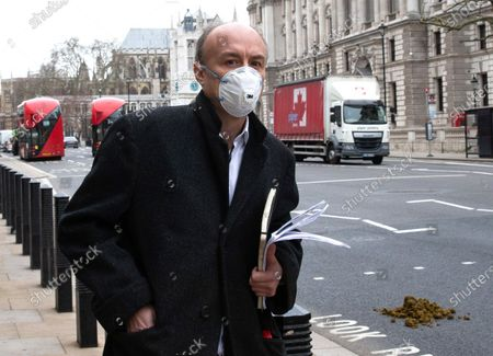 Editorial photo of Dominic Cummings Science Commmittee hearing, Westminster, London, UK - 17 Mar 2021