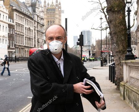 Stock Photo of Dominic Cummings leaves Portcullis House. He criticised the Department of Health, calling it a 'total disaster' on procurement. He called it a 'smoking ruin'.Dominic Cummings appeared before the Science Committee at Portcullis house, chaired by Greg Clark.