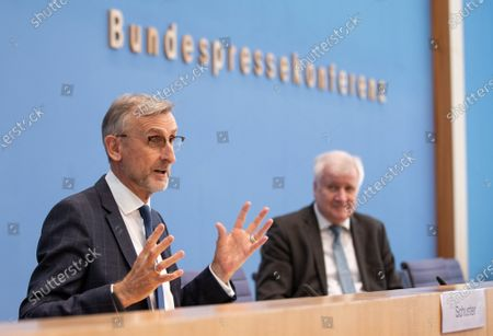 Editorial image of Federal Press Conference on population protection, Berlin, Germany - 17 Mar 2021