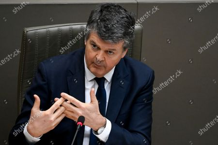 Flemish Minister of Domestic Policy and Living Together Bart Somers pictured during a plenary session of the Flemish Parliament in Brussels, Wednesday 17 March 2021.