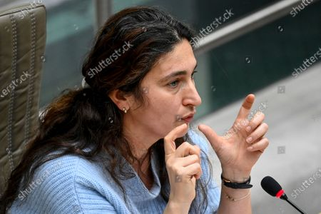 Flemish Minister of Environment, Energy, Tourism and Justice Zuhal Demir pictured during a plenary session of the Flemish Parliament in Brussels, Wednesday 17 March 2021.