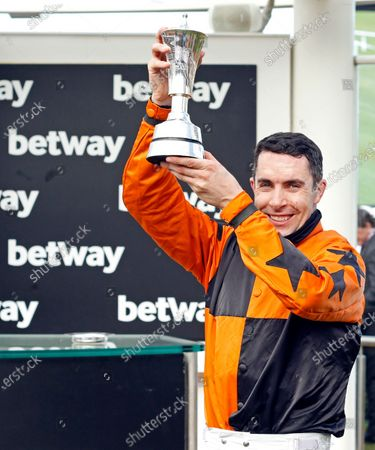 Presentation to Aidan Coleman for The Betway Queen Mother Champion Chase won by PUT THE KETTLE ON Cheltenham