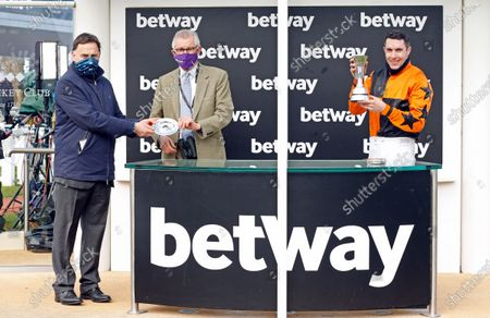 Presentation to Henry de Bromhead and Aidan Coleman for The Betway Queen Mother Champion Chase won by PUT THE KETTLE ON Cheltenham