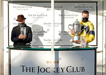 Presentation to Nick Scholfield and Jonjo O'Neill for The Johnny Henderson Grand Annual Challenge Cup won by SKY PIRATE Cheltenham