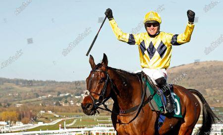 SKY PIRATE (Nick Scholfield) winner of The Johnny Henderson Grand Annual Challenge Cup Cheltenham