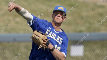 Morehead State's Stephen Hill #12 in action against West Virginia during an NCAA baseball game, in Morgantown, W. Va