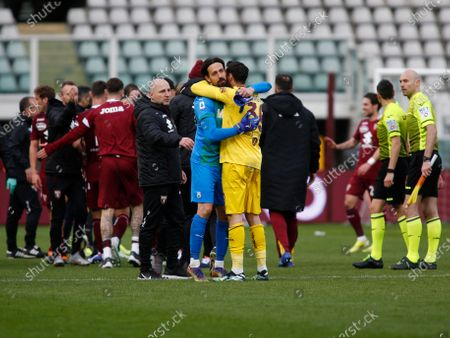 Andrea Consigli and Salvatore Sirigu during Serie A match between Torino v Sassuolo in Turin, on March 14, 2021